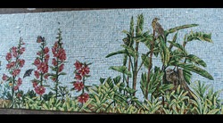 Spa Exterior Mosaics, Left Panel 9