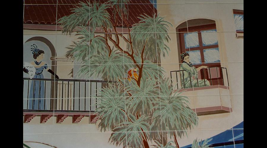 Closeup of the balcony
