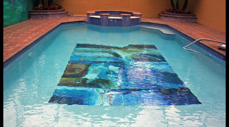 Abstract Art Glass Mosaic Pool 7