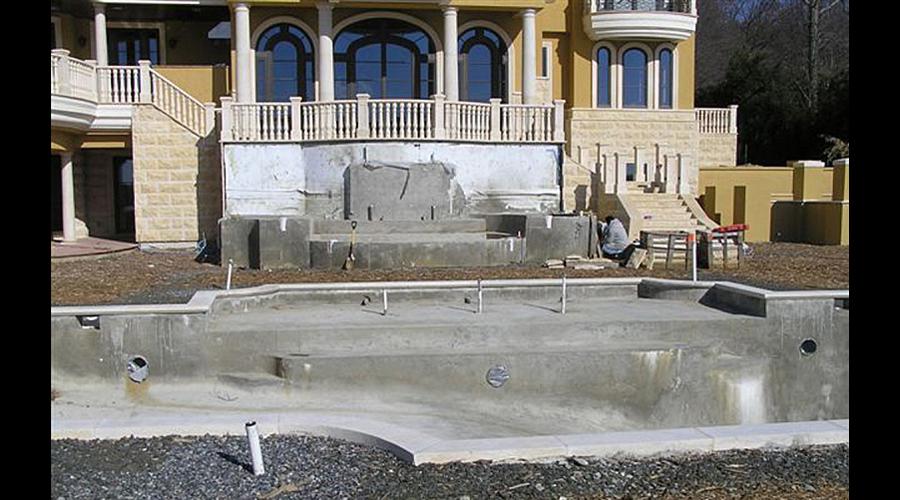 Facing Swans Pool & Spa  in progress