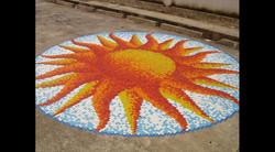 10.5' Glass Mosaic 20mm Sun Mural