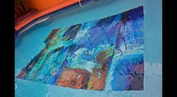 Abstract Art Glass Mosaic Pool 4