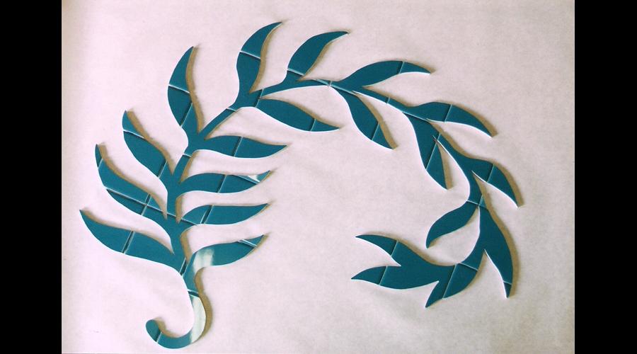 Finished Cut Stem & Leaf Design