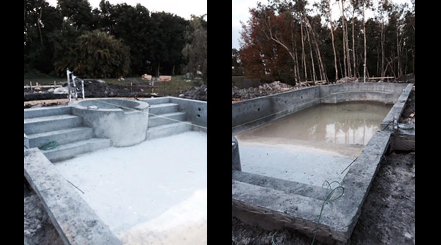 Swimming Pool construction view