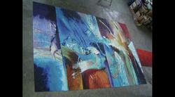 Abstract Art Glass Mosaic Pool 2