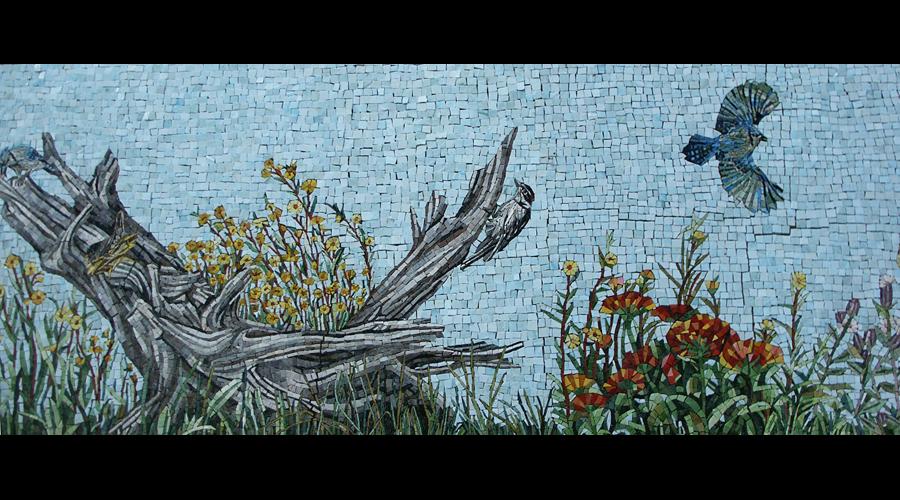 Spa Exterior Mosaics, Left Panel 2