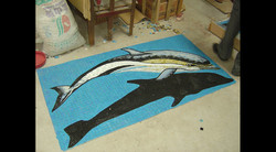 Finished Dolphin Glass Mosaic Mural