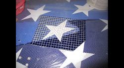 American Flag Swimming Pool Mural