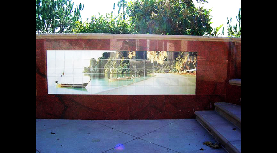 Tahitian Swimming Pool Wall Mural