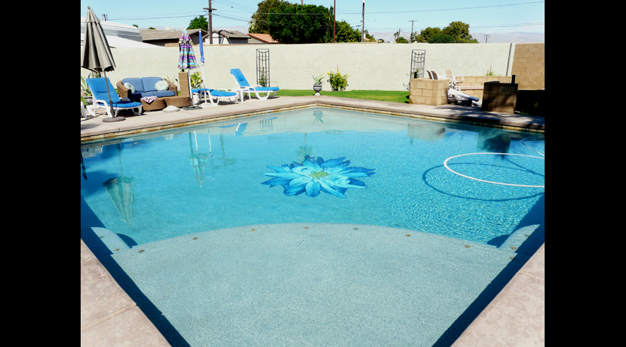 Dalia Glass Swimming Pool Mural
