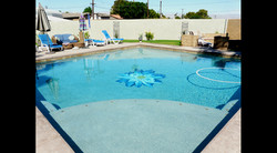 Dalia Glass Swimming Pool Mural