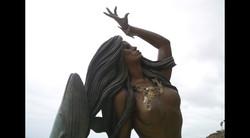 Closeup of Bronze Mermaid