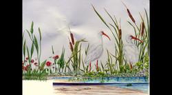 Pool Bubbler Exterior Art, Left