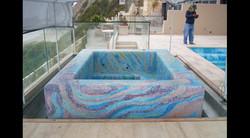 Finished Glass Mosaic Spa, South