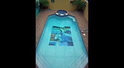 Abstract Art Glass Mosaic Pool 5