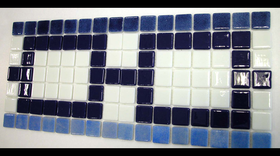 Custom Glass Mosaic Waterline