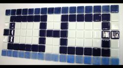 Custom Glass Mosaic Waterline