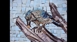 Spa Exterior Mosaics, Bluejay & Nut
