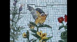Spa Exterior Mosaics, Left Panel 4