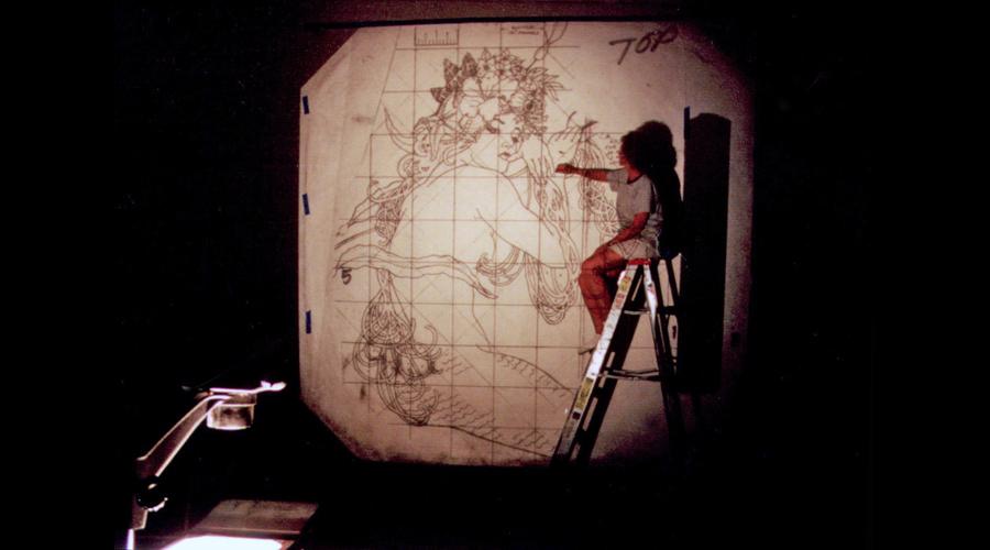 Enlarging the Art via Projector
