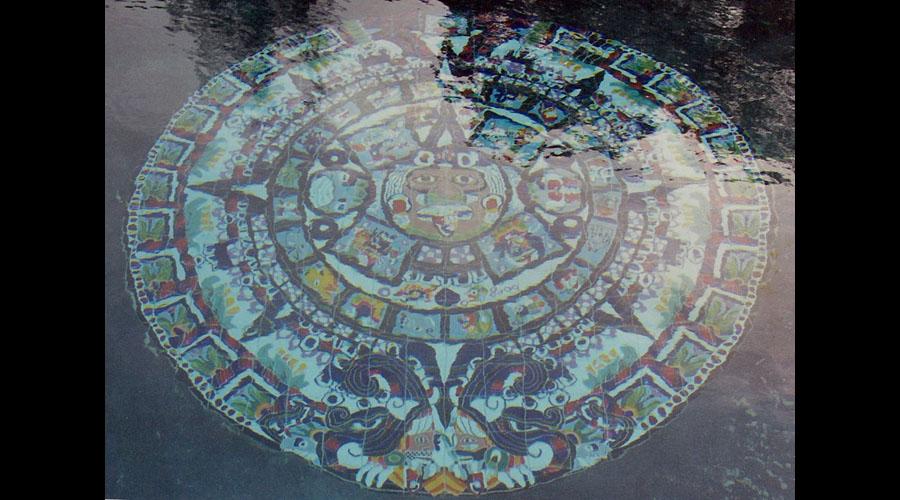 Aztec Mayan Swimming Pool