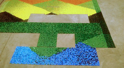 The Lakes of Valparaiso Mosaic Logo in P