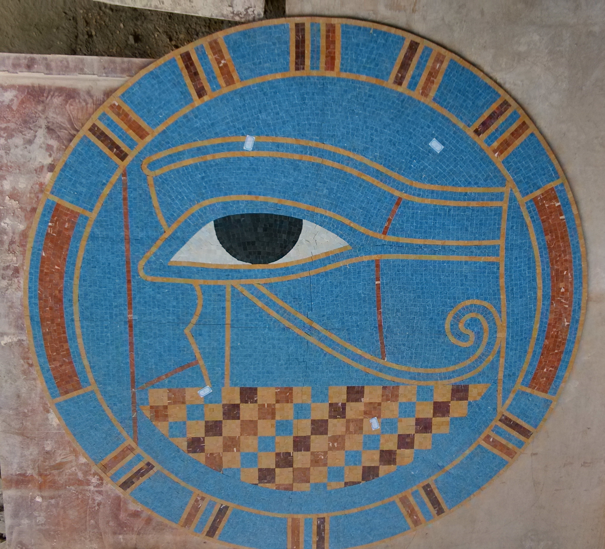 Custom Eye of Ra Mural 78 inches