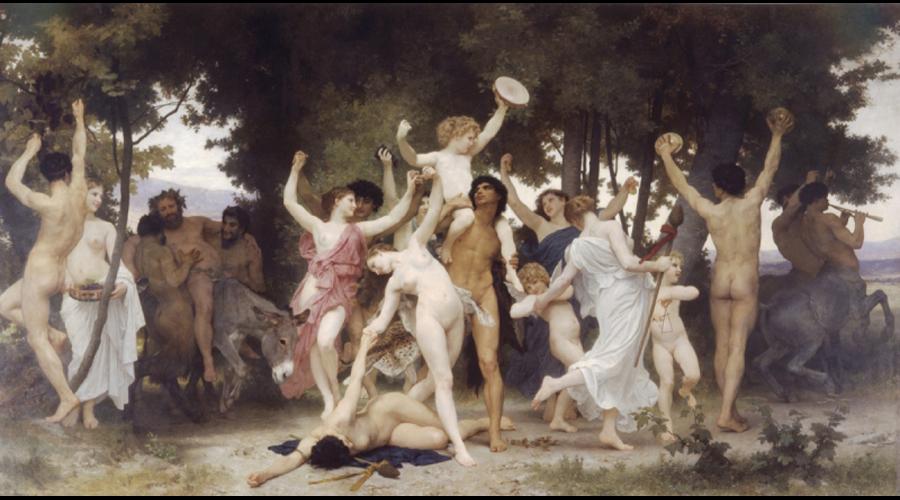 Youth of Bacchus original artwork