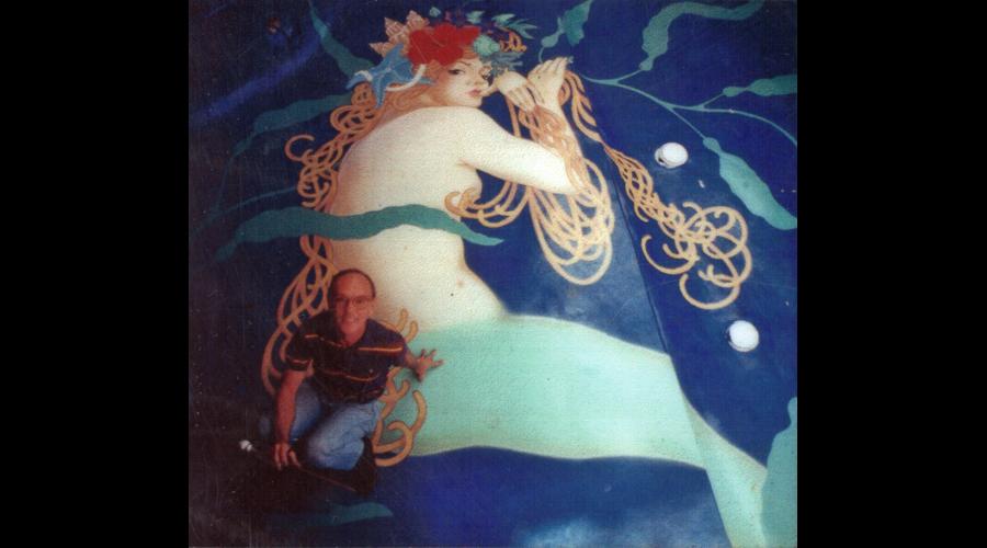 Artist and Painted Mermaid