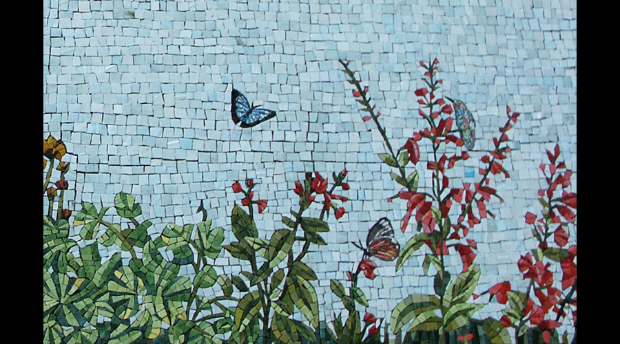 Spa Exterior Mosaics, Left Panel 5