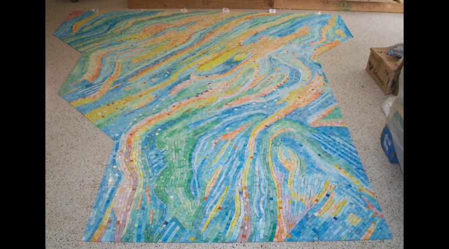 Lofting the Spa Glass Mosaics