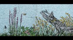 Spa Exterior Mosaics, Left Panel 1