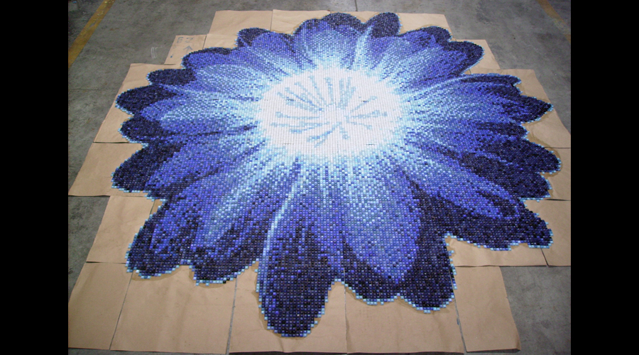 Petalla Glass Mosaic Pool Flower