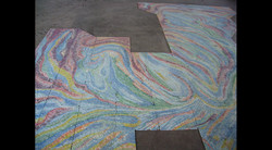 Closeup of Spa Glass Mosaic Work