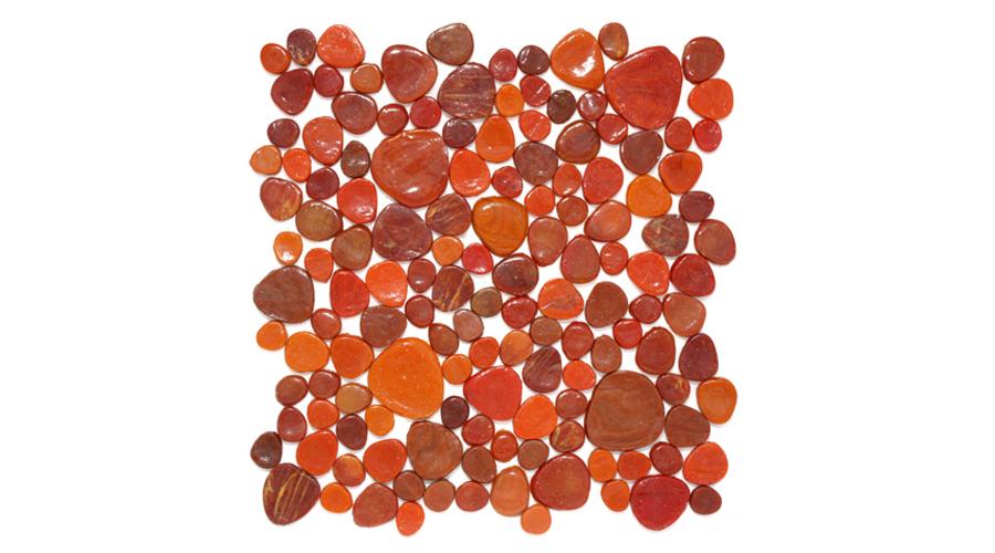 Sunset Vitrogota Glass Mosaic Pebble Til