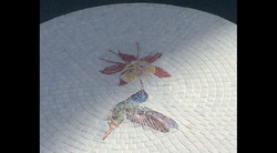 Hummingbird and Flower Mosaic Tabletop