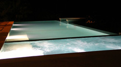 Costa Rica Pool at Night with Aliseo Bisazza Glass Mosaic Tile.jpg