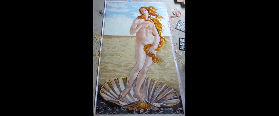 Venus by Botticelli Glass Mural