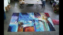 Abstract Art Glass Mosaic Pool 3