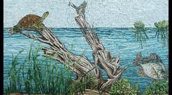 Florida Turtle, Kingfisher & Crappie