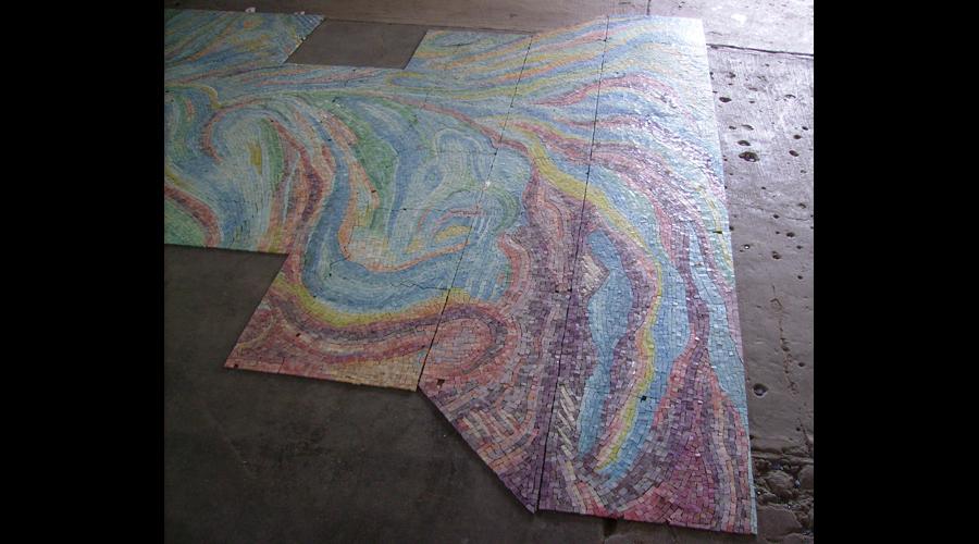 Closeup of Spa Mosaic Work
