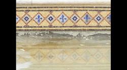 Custom swimming pool gem waterline