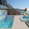 Breakers Isle All Smalti Glass Pool and