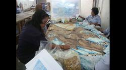 Beginning on the Glass Mosaic Work