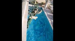 John Soderberg Sculpture over Pool