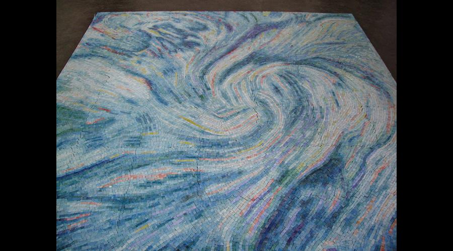 Swimming Pool Floor Swirl Design