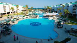 Port Royal Waterjet Swimming Pool Logo Medallion by Agape Tile LLC