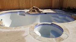 Greek Key Glass Mosaic Waterline