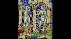 Finished David & Venus Ceramic Mural