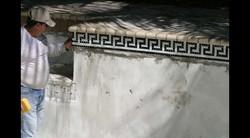 Custom Greek Key Glass Waterline